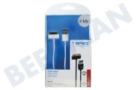 Spez 10341  USB Anschlusskabel Apple Dock Connector, weiß, 200cm Apple iPhone, iPad, iPod