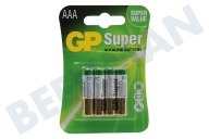 GP 03024AC4  LR03 Super Alkaline AAA Pencil Super alkalisch
