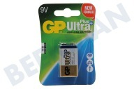 GP 0301604AUPU1  6LR61 Ultra Plus Alkaline 9 Volt E-Block Ultra Plus Alkaline