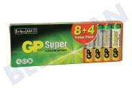 GP 03024AB8+4  LR03 GP Super Valuepack 8 + 4 AAA AAA 1,5 Volt
