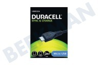 Duracell  USB5023A Micro-USB-Kabel-Schwarz 2 Meter Universal-Micro-USB