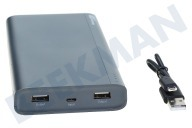 GP 130B20AGREY  B20A GP B-Series Powerbank 20000mAh Charcoal Grey 20000mAh, Micro USB