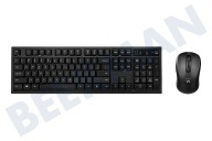 Ewent EW3193  Tastatur Soft Touch inklusive Maus Wireless