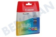 Canon 1700430  Druckerpatrone CLI 526 CLI-526 C/M/Y Multipack IP4850, MG5150,5250,6150