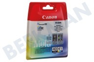 Canon 1700242 PG 40 + CL 41  Druckerpatrone PG 40  CL 41 Multipack Schwarz + Farbe Pixma iP1200, iP1300