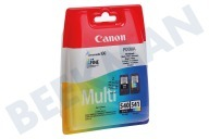 Canon 1713986  Druckerpatrone PG 540 Schwarz CL 541 Farbe Multipack Pixma MG2150, MG3150, MX375