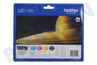 Brother LC1100VALBP  Druckerpatrone LC-1100 Multipack MFC490CW, MFCJ615W, MFC790C