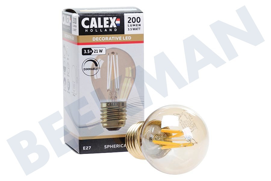 Calex  474486 Calex LED Filament Kugellamp 3.5W E27 G45 Dimmbar