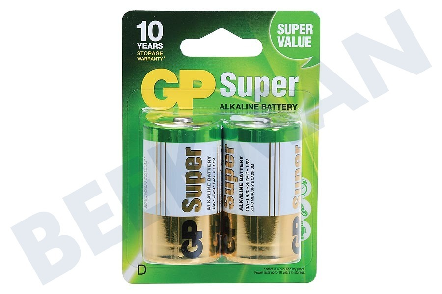 GP  LR20 Super Alkaline D