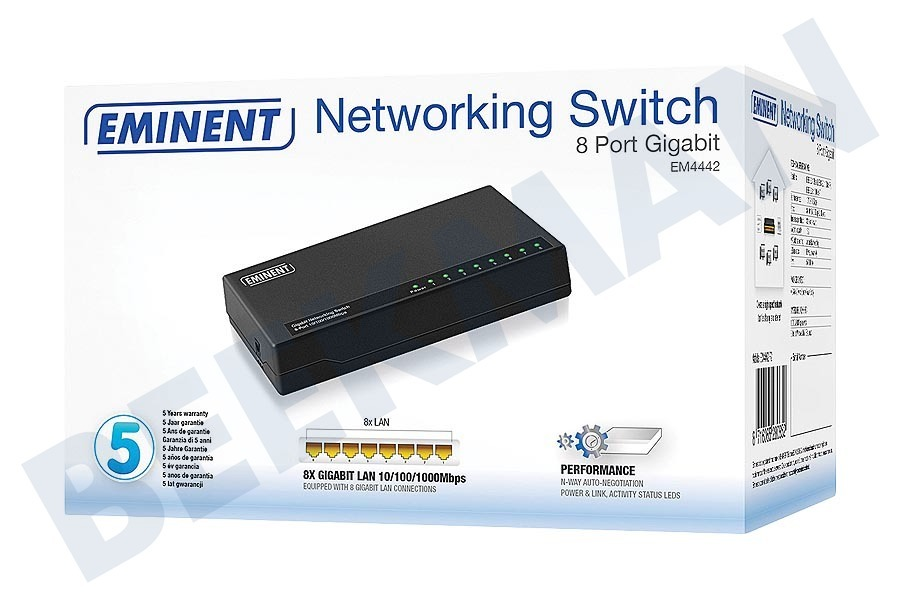 Eminent  Switch LAN 10/100 / 1000Mbps