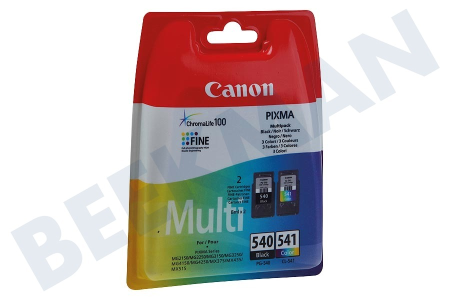Canon  Druckerpatrone PG 540 Schwarz CL 541 Farbe Multipack